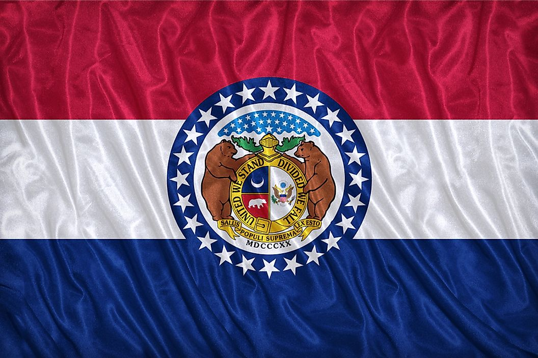 The state flag of Missouri.