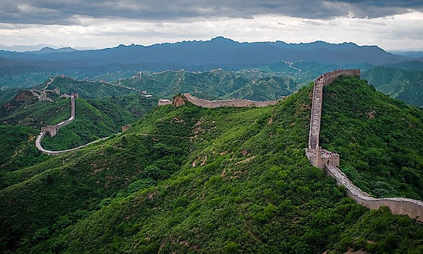 The Great Wall of China, a popular tourist destination in China.
