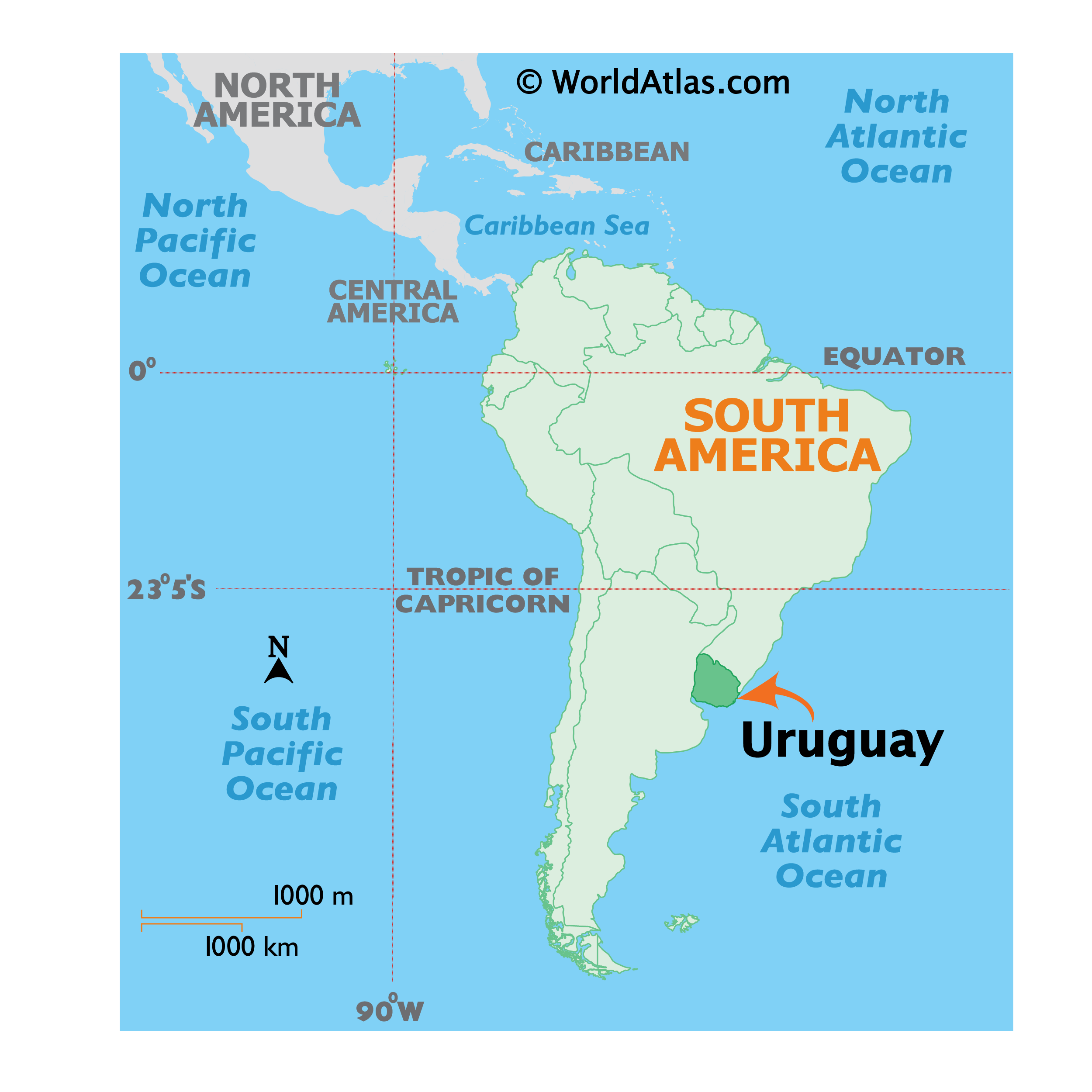 Where is Uruguay?