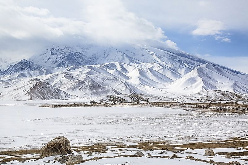 Muztagh Ata in the Chinese portion of the Pamirs.