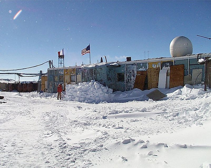 The Russian-controlled Vostok Station.