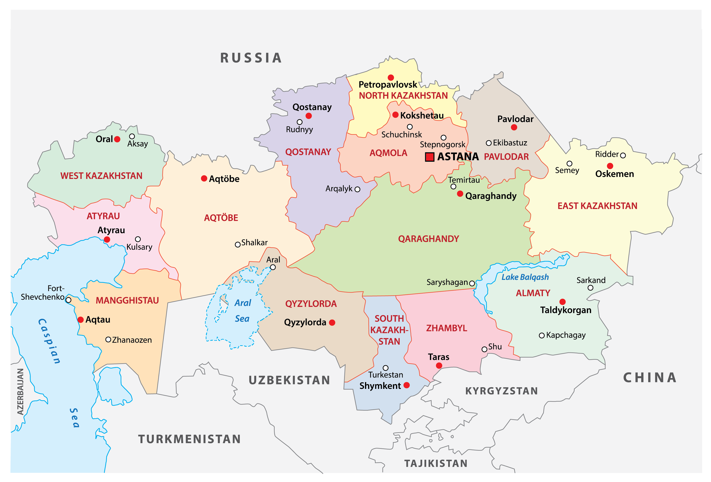 Kazakhstan Maps Facts World Atlas