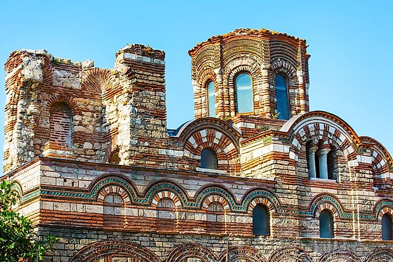 An old church in the town of Nessebar.