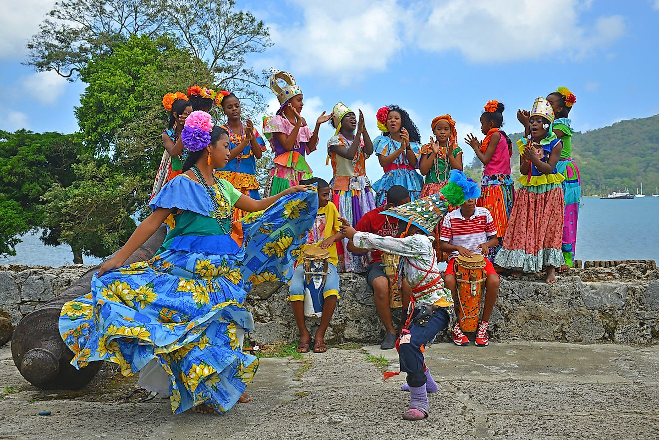 Traditional congo dance in Portobello. An afro colonial dance mixed with Spanish influences. Image credit: SL-Photography/Shutterstock.com