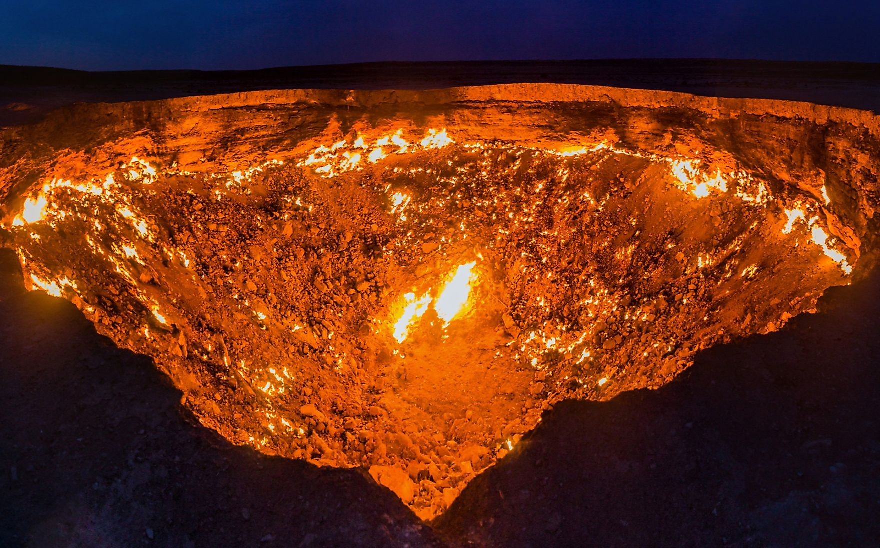 Tourists are allowed to visit the Darvaza gas crater. Just don't fall in!