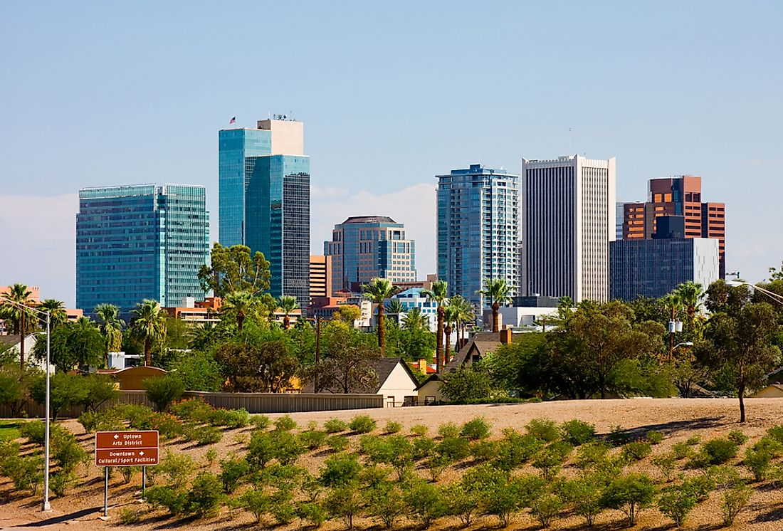 Phoenix, Arizona, is the most populated state capital in the US.