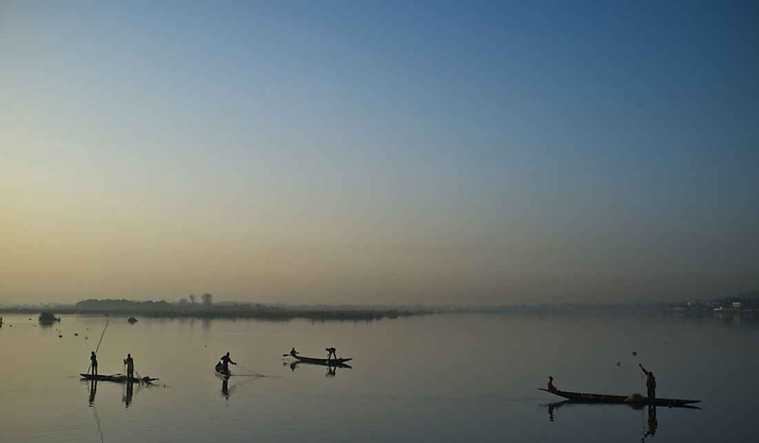 Fishermen on the Niger River.