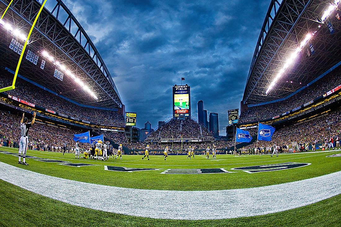 The Seattle Seahawks home field, Century Link Field. Editorial credit: MPH Photos / Shutterstock.com.