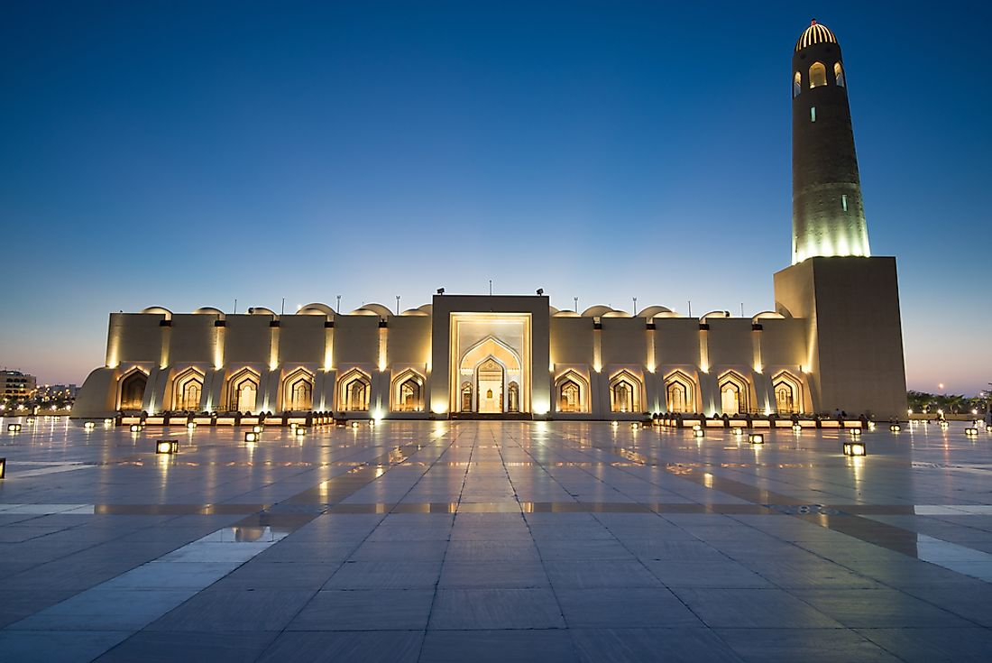 The Doha Grand Mosque, Qatar.
