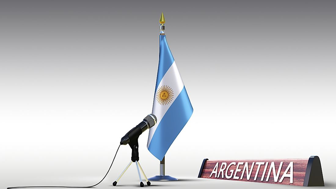 The country name Argentina has 9 letters.