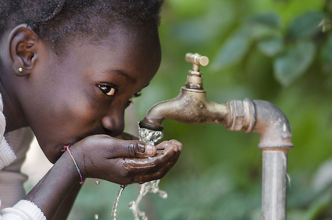 Only 1% of the world's water is easily available for human consumption and use.