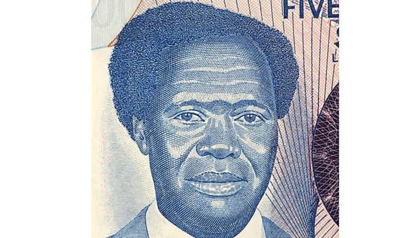 Milton Obote on the 500 Shillings note from Uganda.  Editorial credit: Georgios Kollidas / Shutterstock.com.