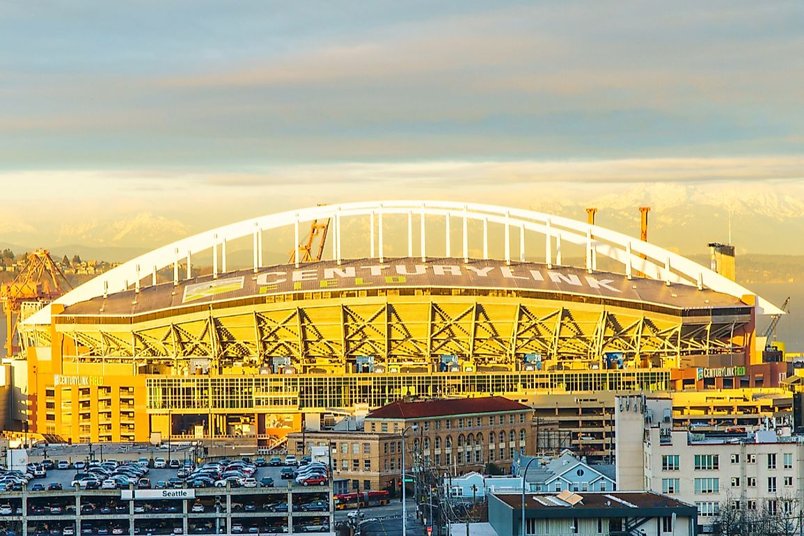CenturyLink Field Stadium is the home of the Seattle Seahawks and Seattle Sounders FC. Editorial credit: Miune / Shutterstock.com