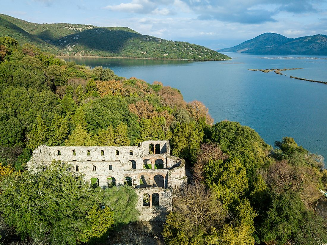 The ruins of Butrint, Alabnia.