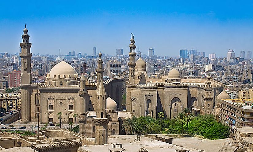 Cairo is a unique blend of ancient historic buildings and modern skyscrapers.