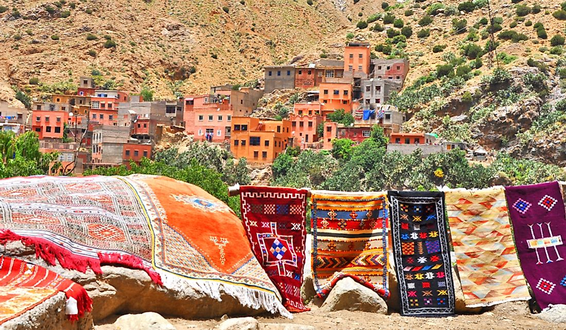 Traditional Berber village in the Atlas Mountains.
