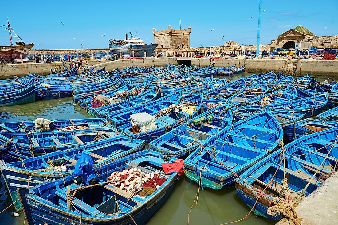 Fishing boats in Morocco.