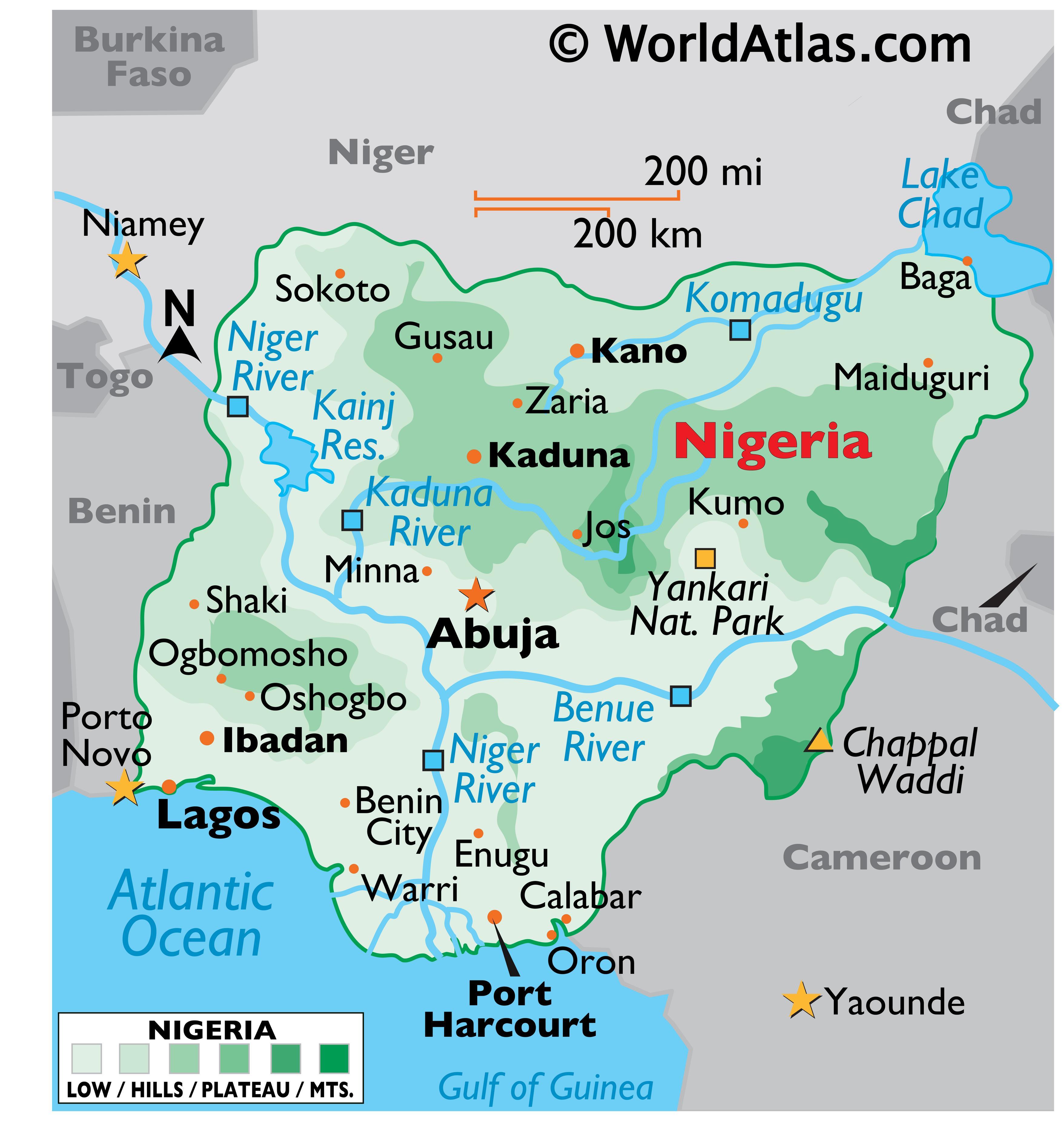 Nigeria Maps Facts World Atlas