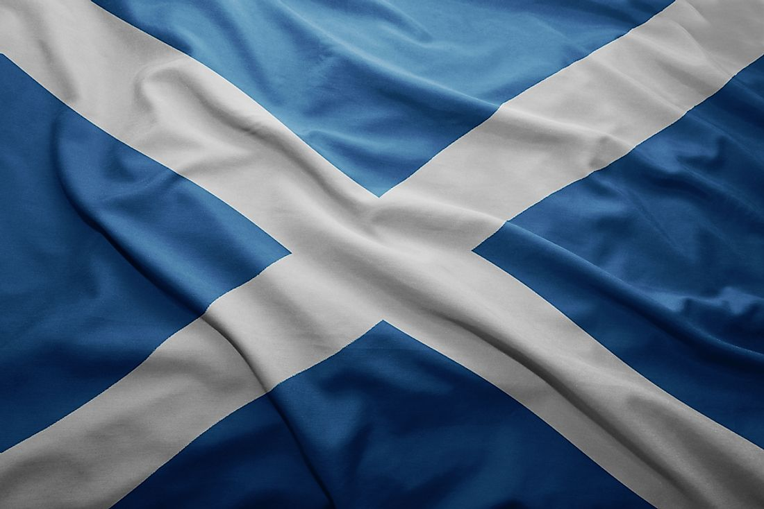 The flag of Scotland.
