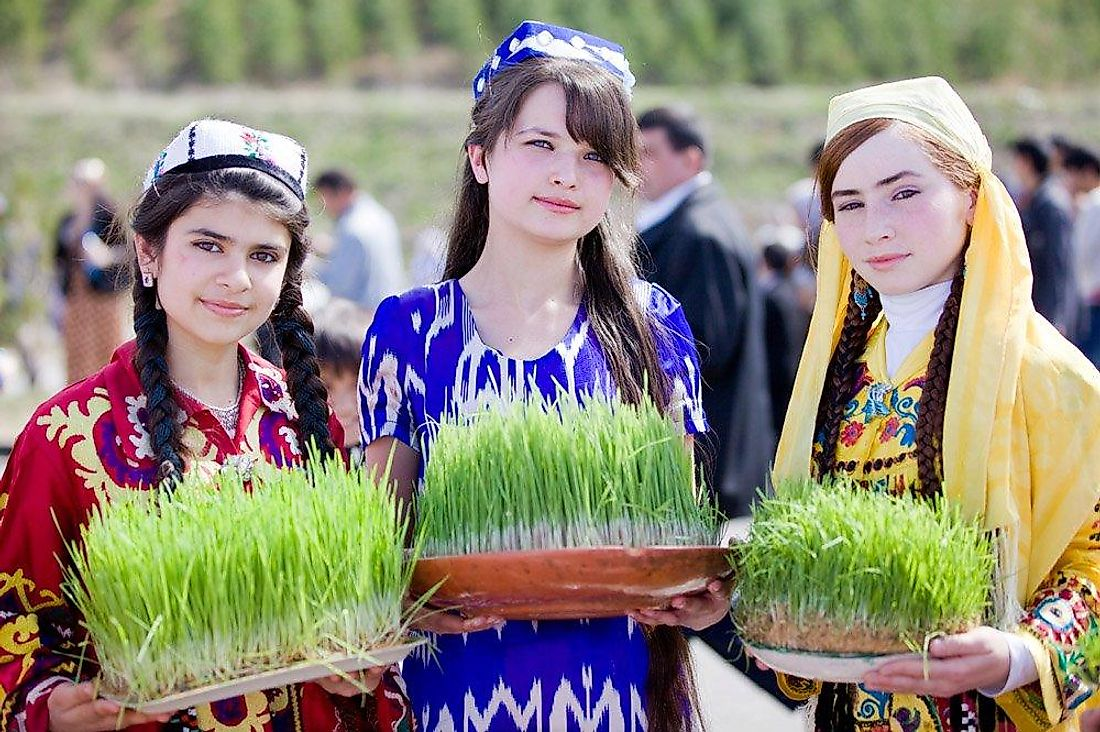 Tajik girls on a holiday.