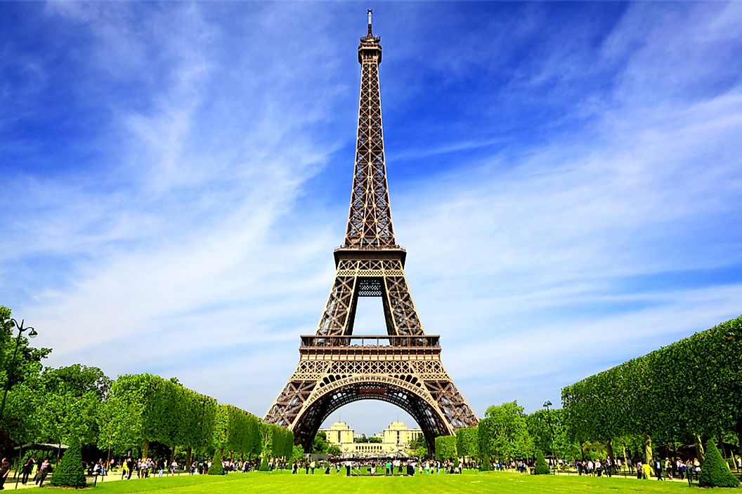 The Eiffel Tower in Paris is the world's most visited tourist attraction, and a significant part of France's thriving tourism industry.