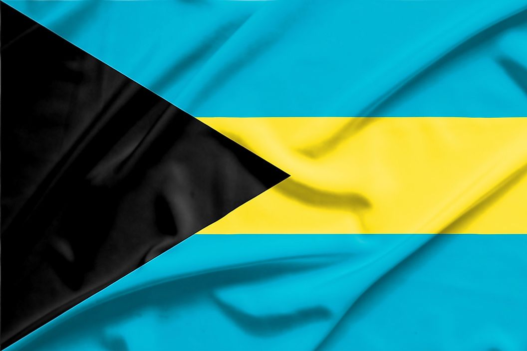 The flag of the Bahamas.