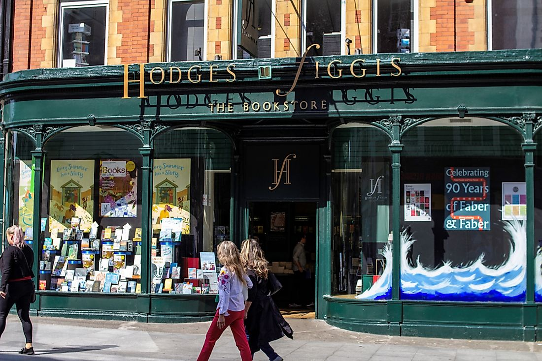 The Hodges Figgis bookstore in Dublin. Editorial credit: noel bennett / Shutterstock.com.