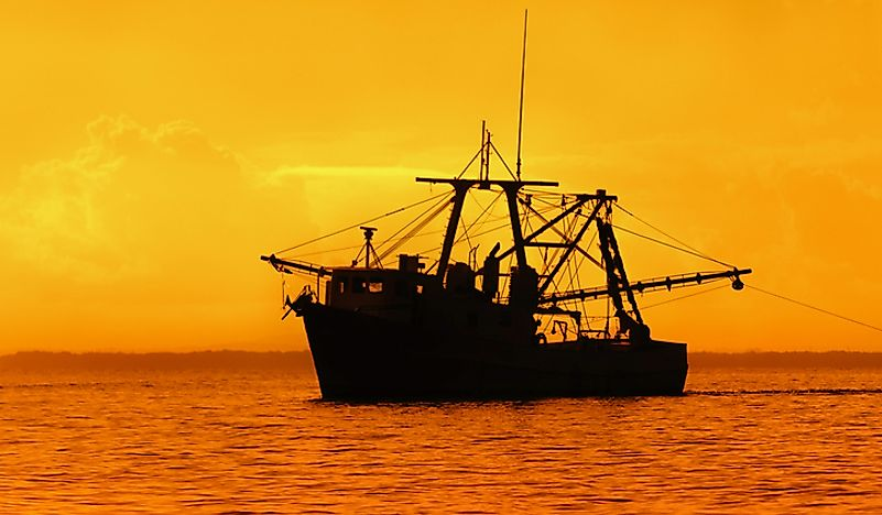 A fishing boat on the Gulf of Paria.