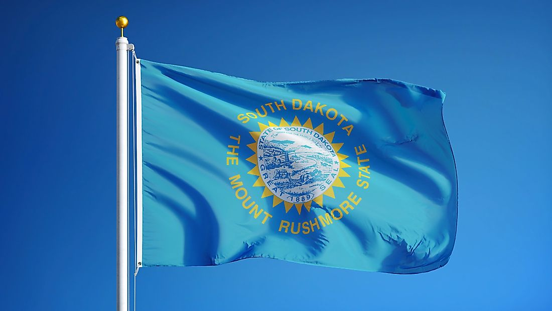 South Dakota State Flag WorldAtlascom