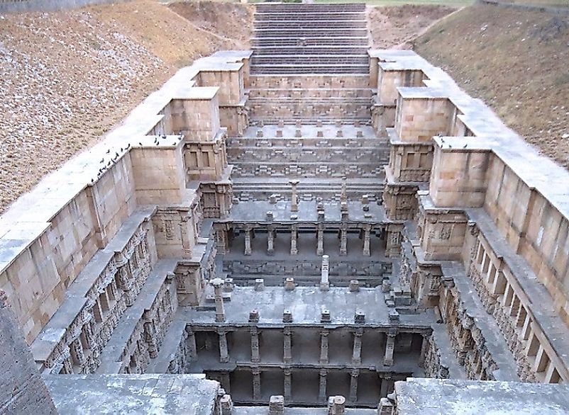 The Rani-ki-vav as seen from above.