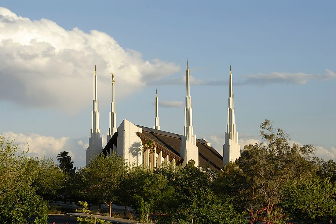 A Mormon temple in the United States.