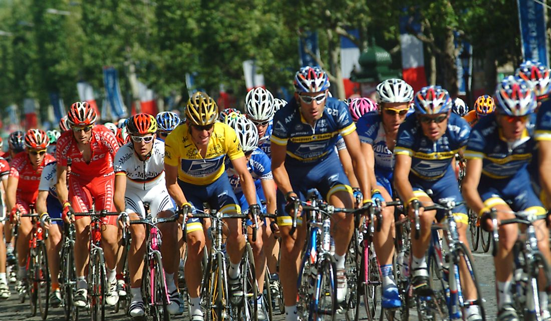 The Tour de France has been marred by various doping scandals. Editorial credit: Marc Pagani Photography / Shutterstock.com