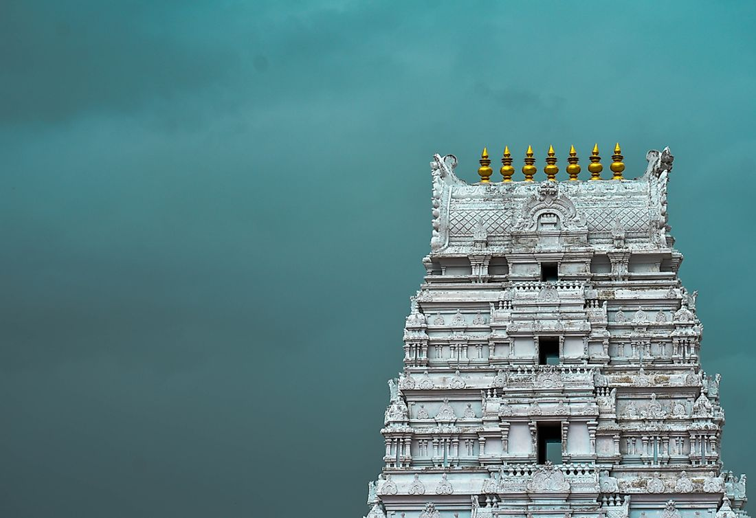 Temple in Telangana, one of the Indian states where Telugu people are native to.