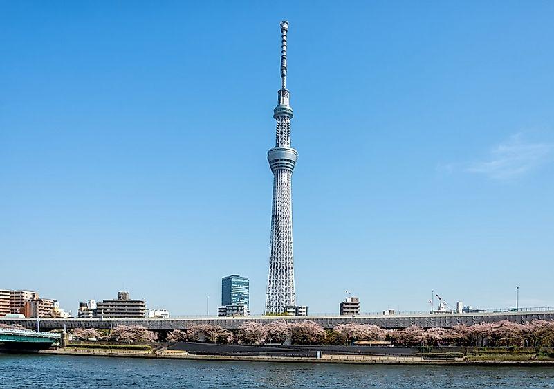 #1 Tokyo Sky Tree, Japan - 2,080 Feet
