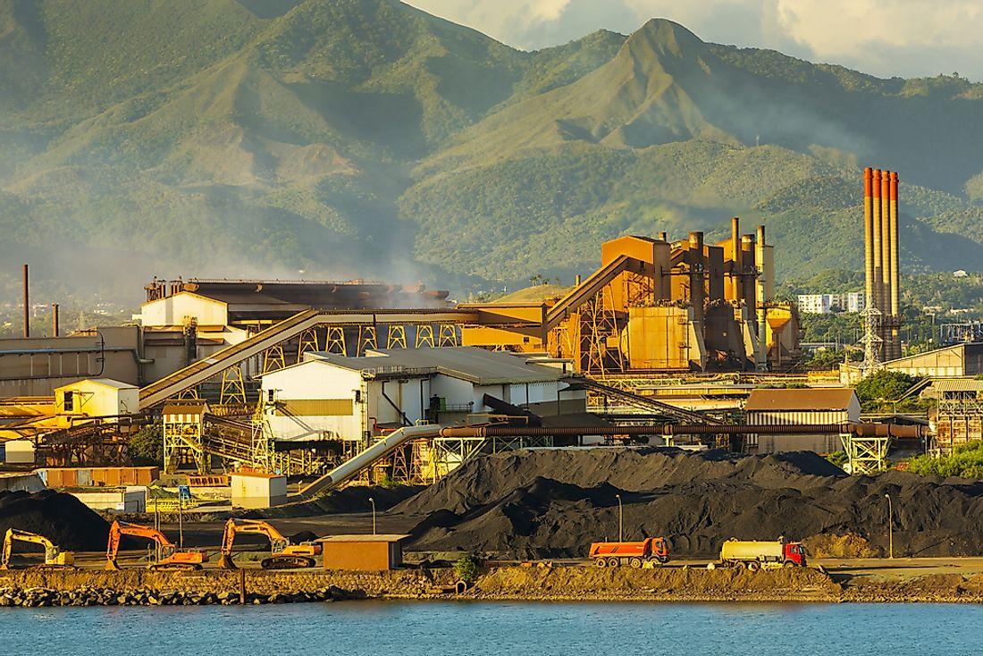 Nickel production in New Caledonia. Editorial credit: THPStock / Shutterstock.com