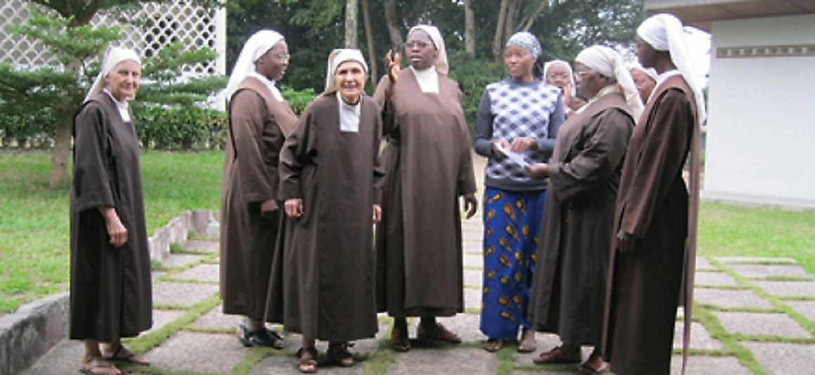 Catholic nuns at a monastery mission in the Republic of the Congo.