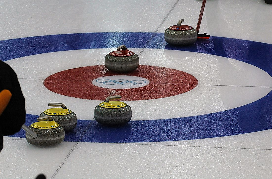 Curling is an olympic sport. Photo credit: steba / Shutterstock.com.