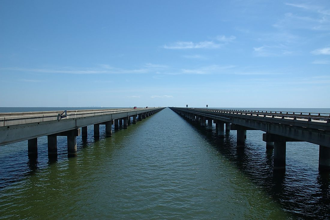 The Lake Pontchartrain Causeway is the longest bridge in North America, although this claim has been disputed.