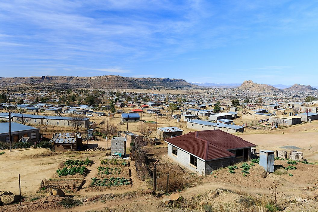 An old part of Maseru, the capital of Lesotho.