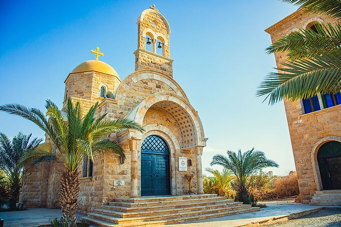 Church of St. John the Baptist, a Christian church, is photographed here in Jordan.