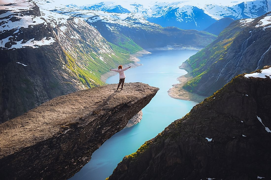 The picture-perfect Trolltunga.