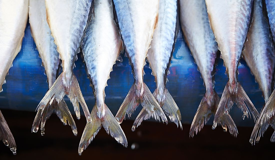 Some countries eat large quantities of fish.