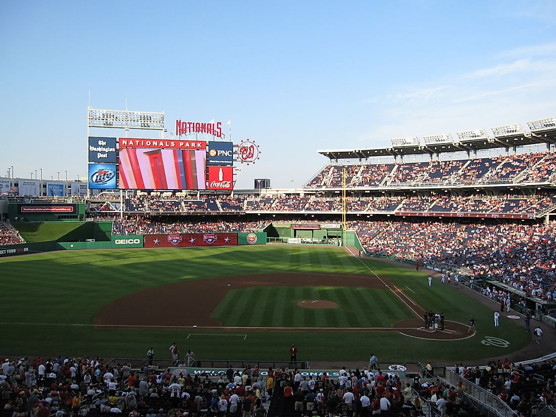 In 2005, the Washington gained the Nationals, their first MLB team since 1971. Editorial credit: Christopher Penler / Shutterstock.com
