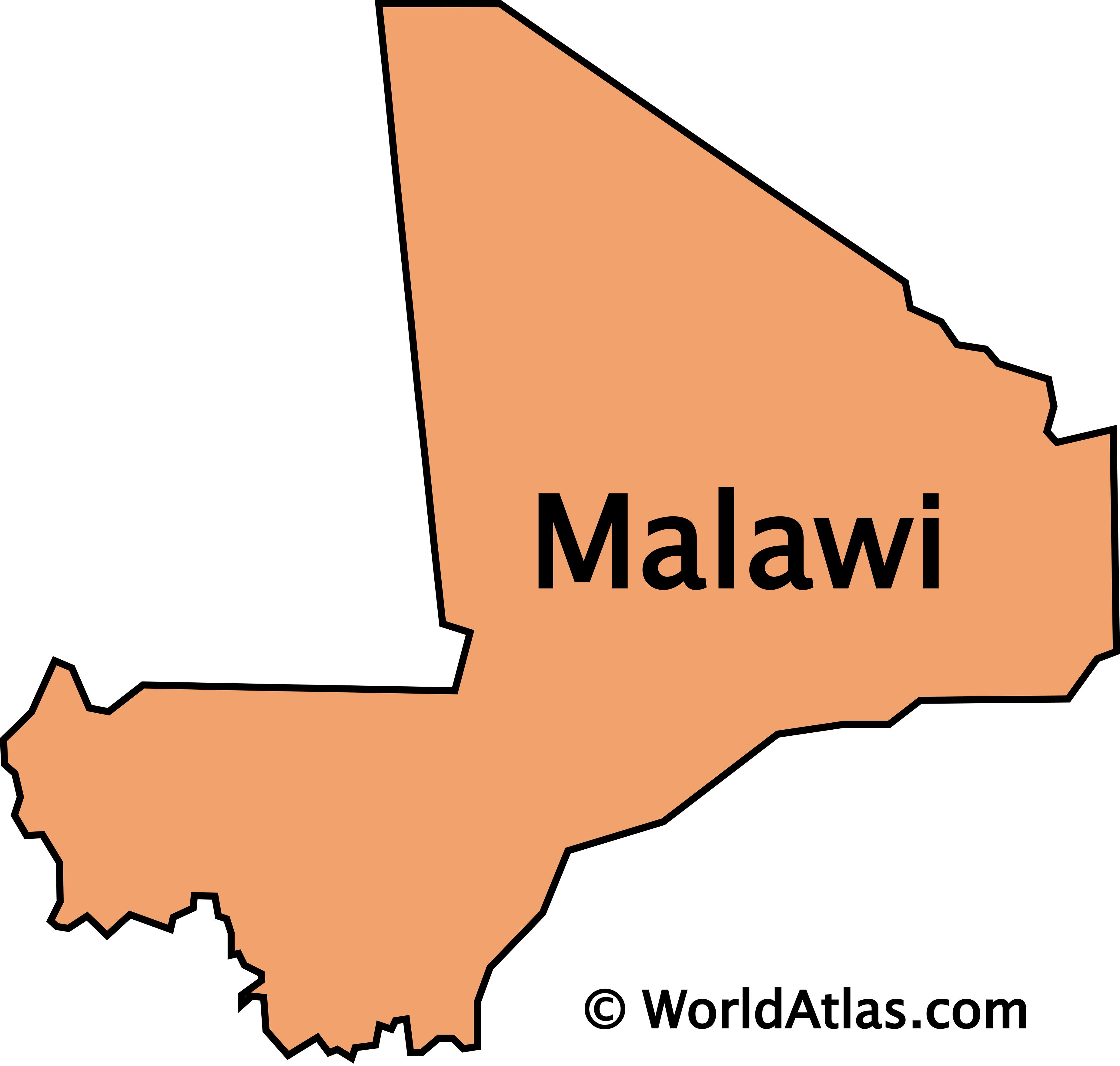 Outline Map of Mali