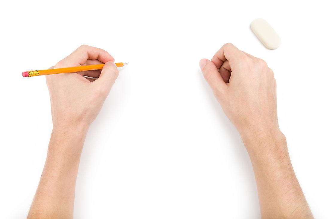 Left-handed individuals are in the minority.