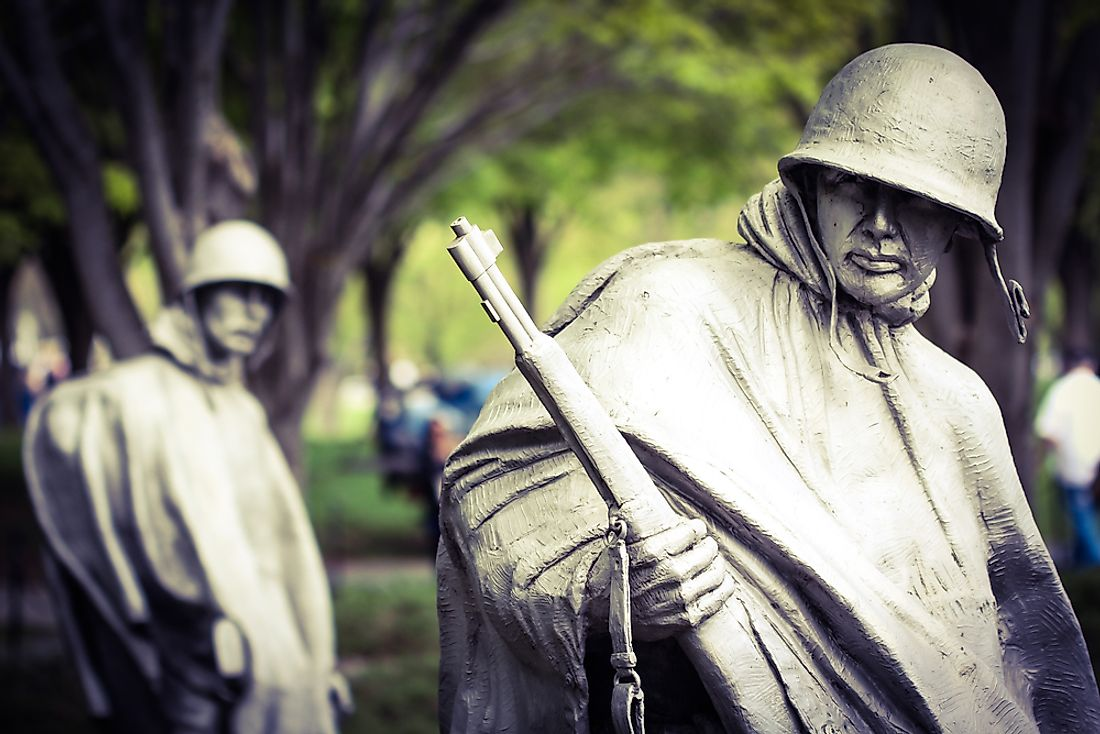 The Korean War memorial in Washington, D.C.