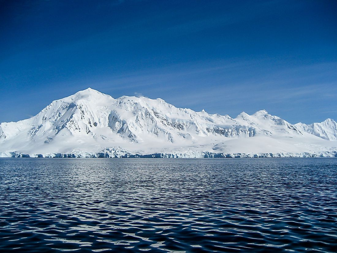 The temperatures of the Antarctica's Southern Ocean are influenced by winds and currents that encircle the ocean.