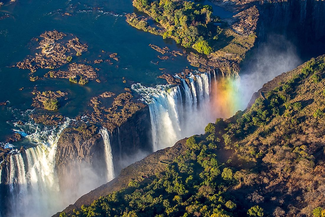 The world famous Victoria Falls.