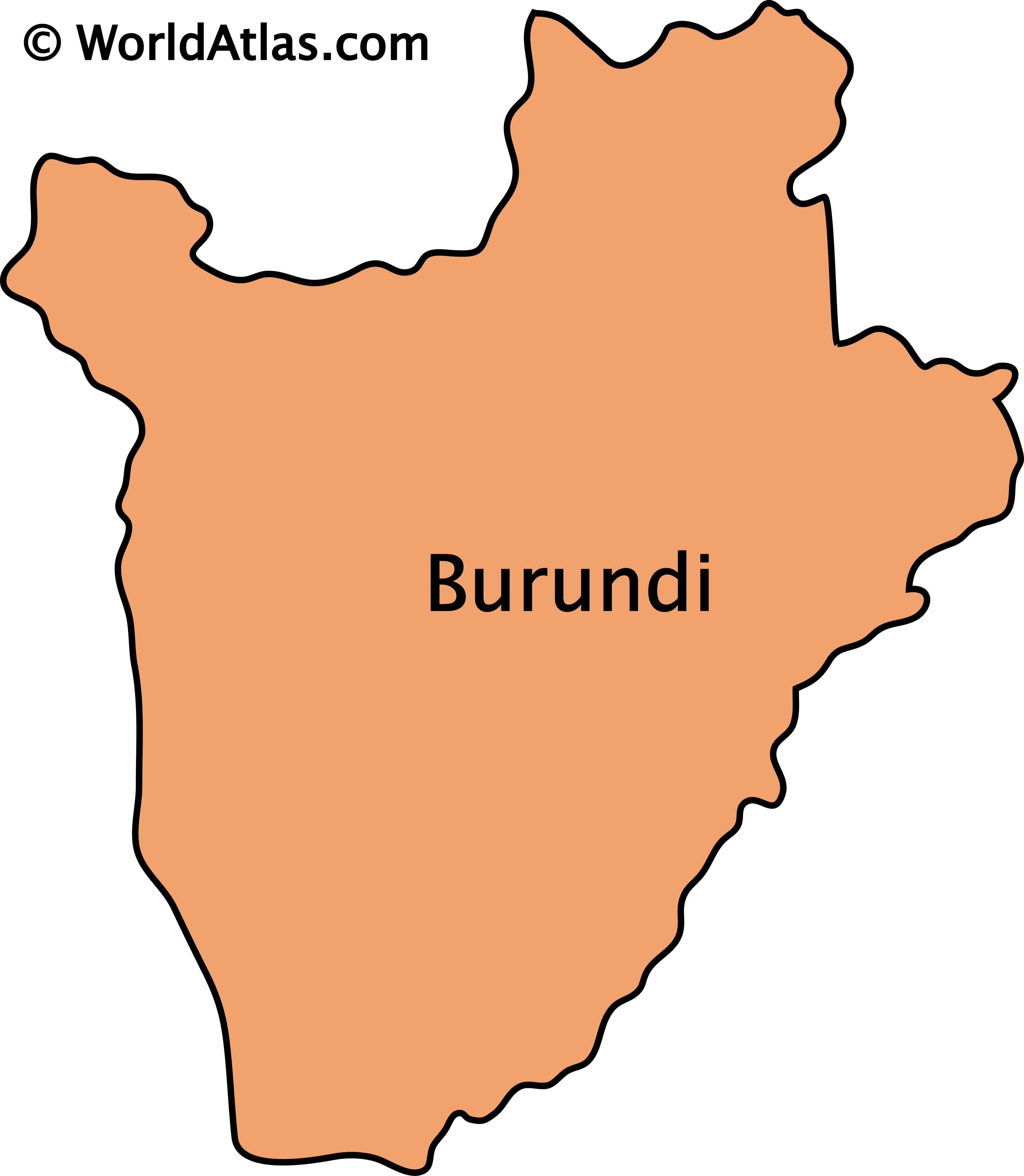 Outline Map of Burundi