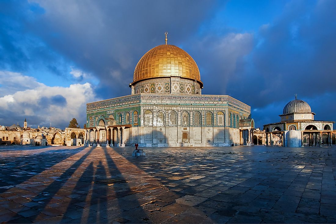 Dome of the Rock in Jerusalem, Palestine.